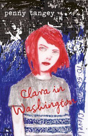 Book cover showing drawing of a girl with red hair