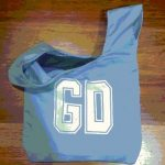 Light blue Goal Defence netball bib bag