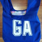 Blue Goal Attack netball bib bag