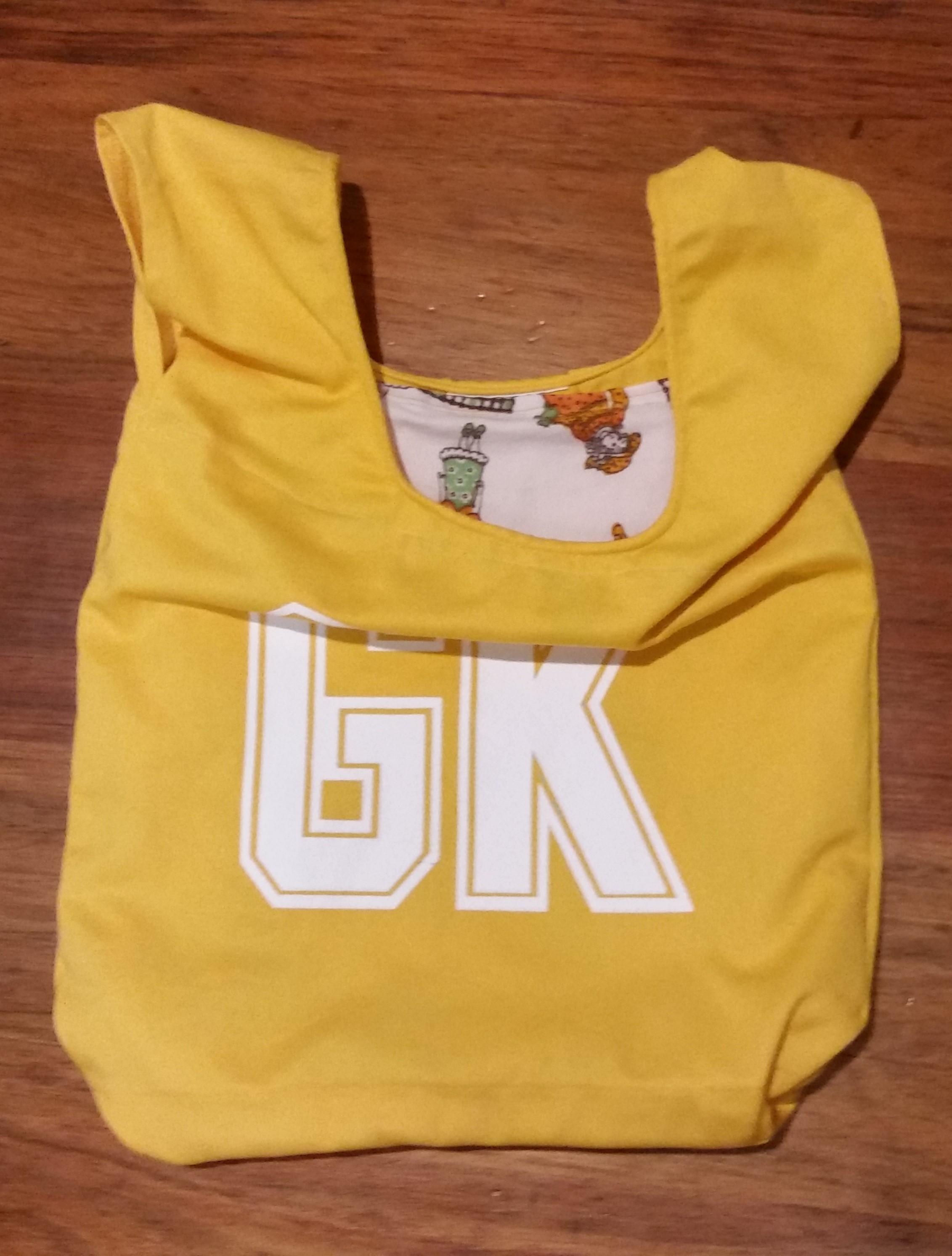 Yellow GK netball bib