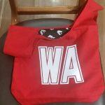 Red Wing Attack netball bib bag