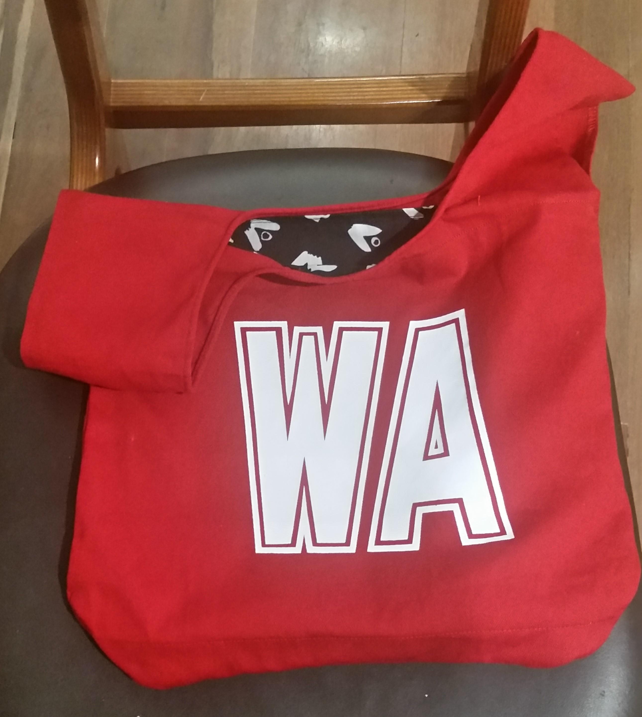 Red WA netball bib