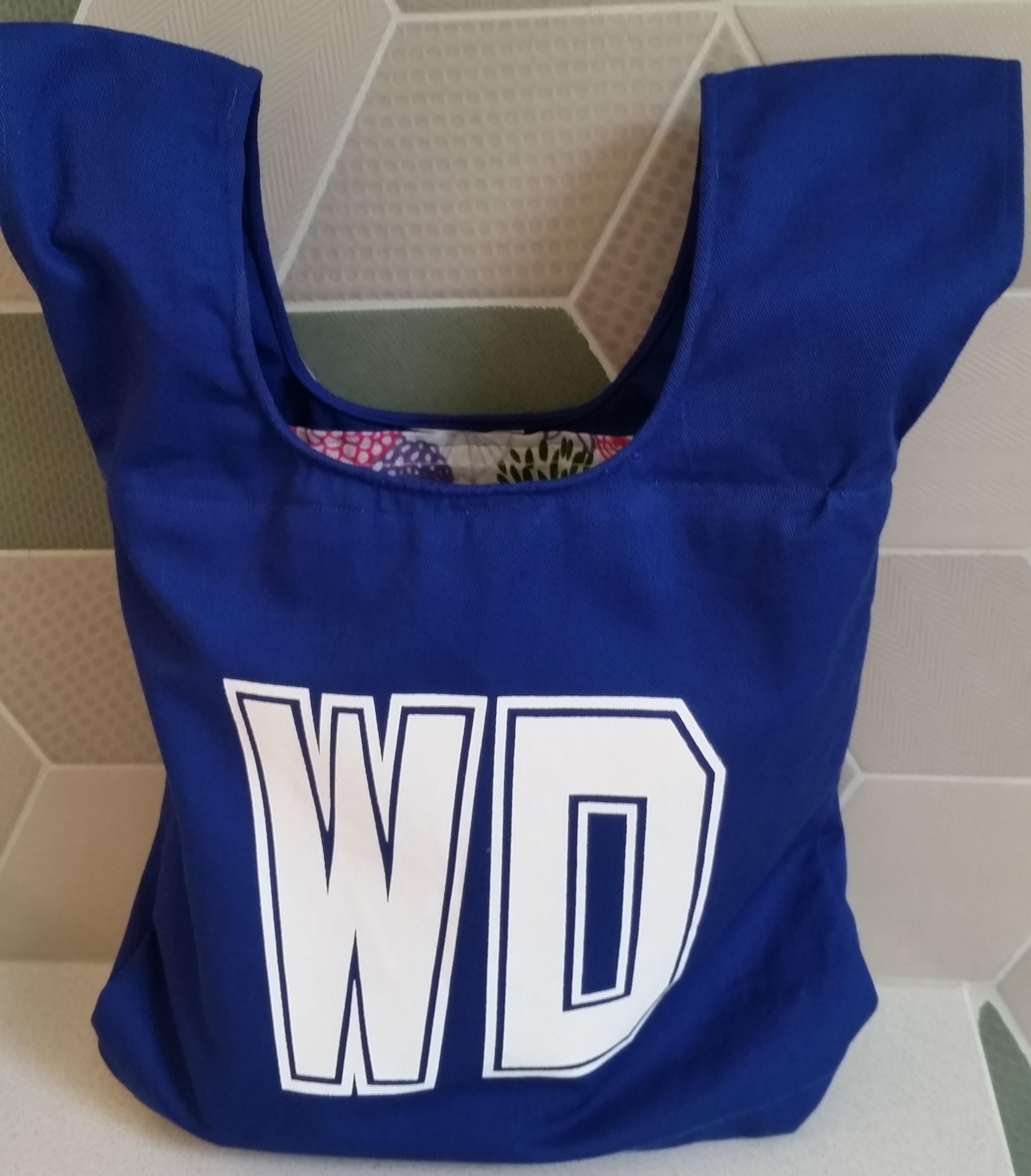Royal blue WD netball bib
