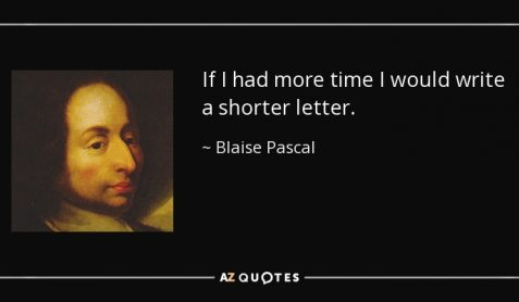 "Image of Pascal with text ""If I had more time I would write a shorter letter"""